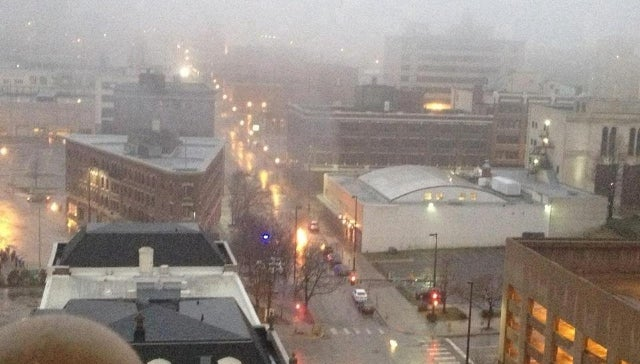Incredible Photo Shows Pillars of Fire Bursting from Manholes in Downtown Omaha [UPDATE]