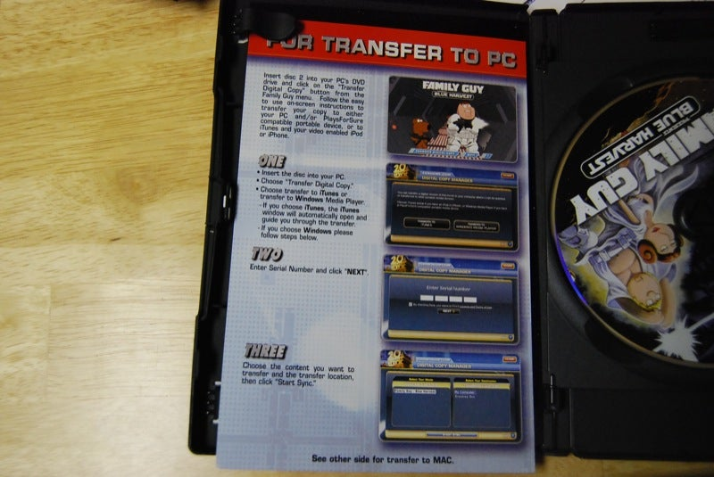 Fox's Legal iTunes DVD Rip Works Great, Wastes Plastic