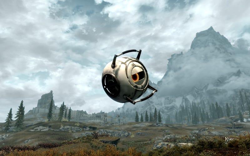 Valve & Bethesda Release Official Portal 2 Mod...For Skyrim