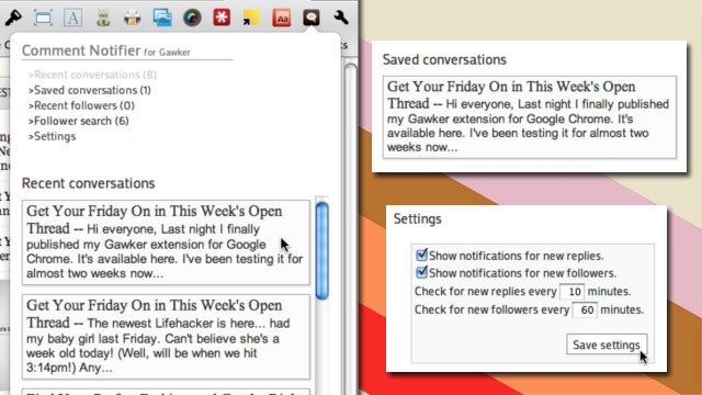 Comment Notifier for Gawker Puts Lifehacker and Other Gawker Sites' Notifications in Chrome