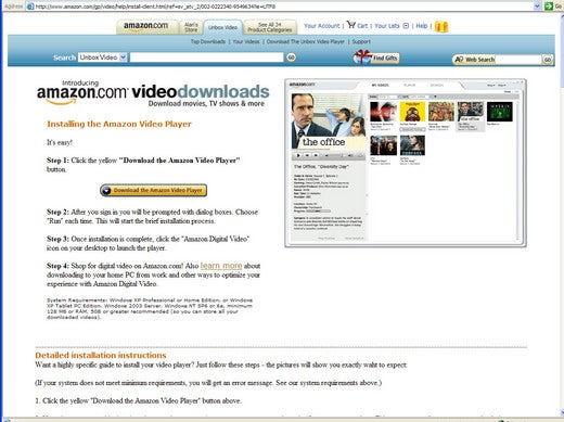 First Look: Amazon's Digital Video Service