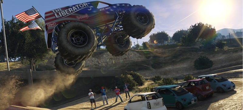 Celebrate July 4th With Monster Trucks & Violence In Grand Theft Auto V