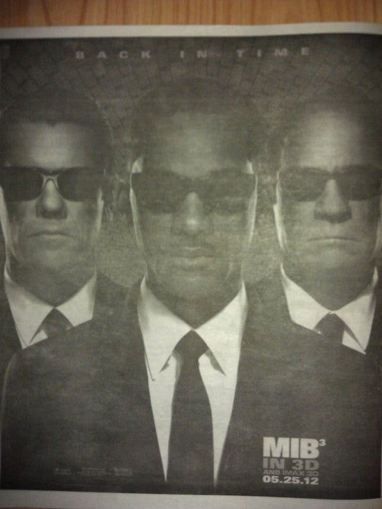 MIB 3 in the Gossip Tabloids
