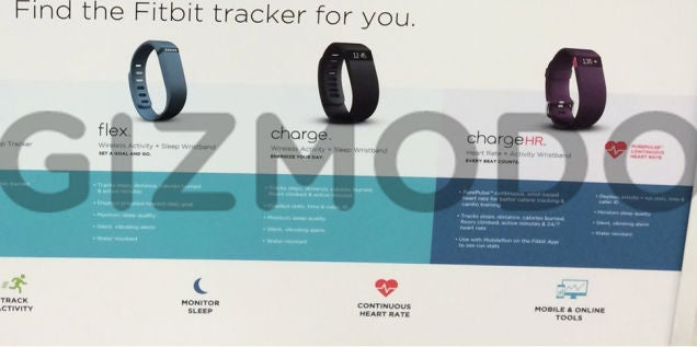 Fitbit Charge, Charge HR, and Surge Leak Again in Sports Authority Ad