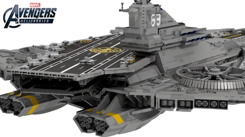 You Could Literally Kill Someone With This Lego SHIELD Helicarrier