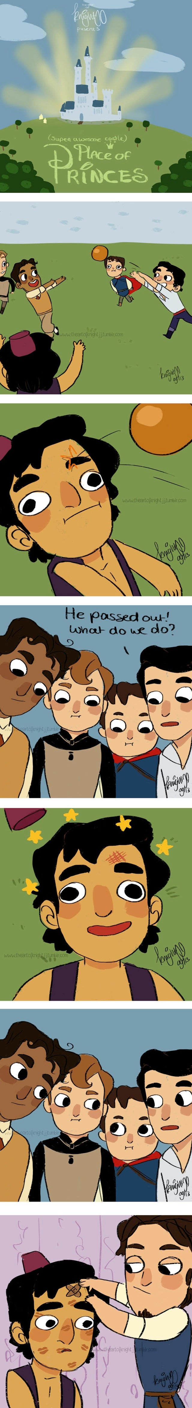 What if all the Disney princes lived together in one castle?