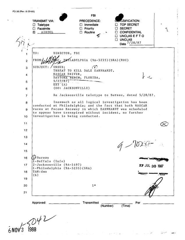 Dale Earnhardt Crash Investigation logical investigation has