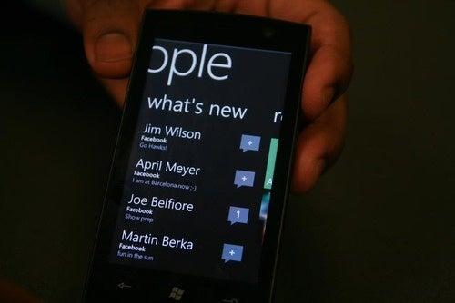 Windows Phone 7 Hands-On Pics
