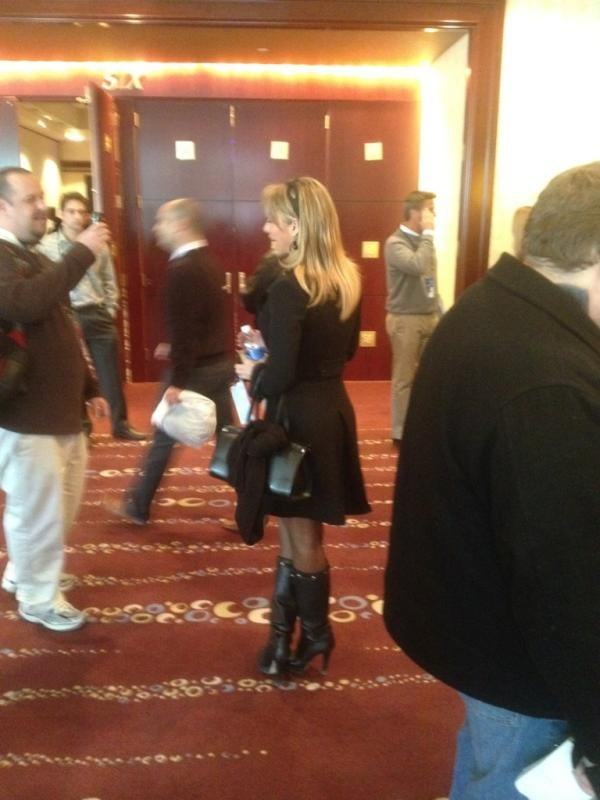 All The Photos Other Reporters Took Of Ines Sainz At Super Bowl Media Day