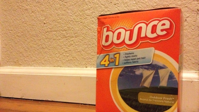 Use Dryer Sheets on Baseboards to Keep them Dust Free