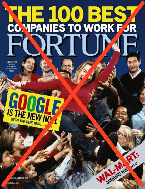 Google's austerity campaign