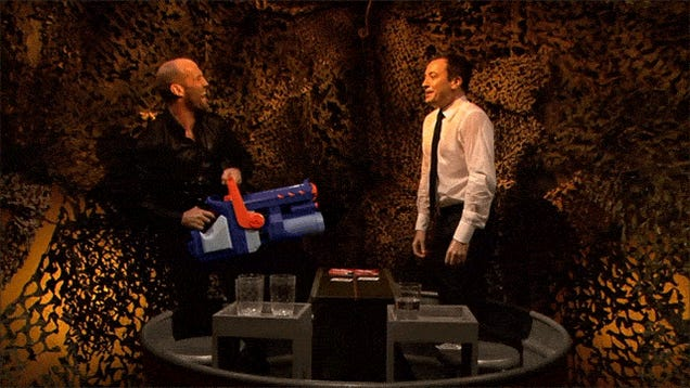 Playing Water Wars With Jason Statham Can Be Brutal