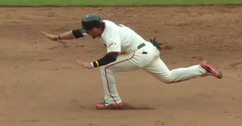 Gregor Blanco Fall Down, Go Boom, Still Makes It To Third Base