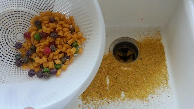 Filter Out Cereal Dust with a Colander