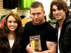 Miley Cyrus And Underwear-Jockey Boyfriend Crash Stephen Baldwin Book Signing