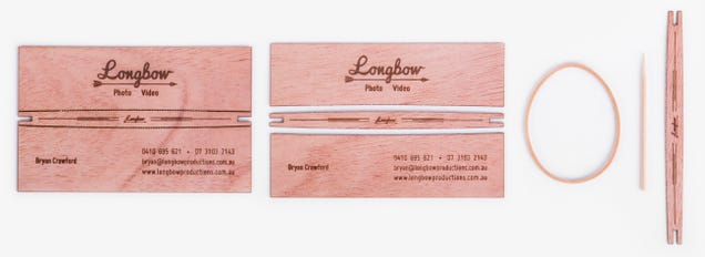 Business Cards That Turn Into Mini Bow and Arrows Are Robin-Hood-Ready