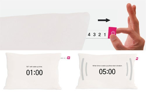 Concept Alarm Clock Pillow Will Vibrate You Awake