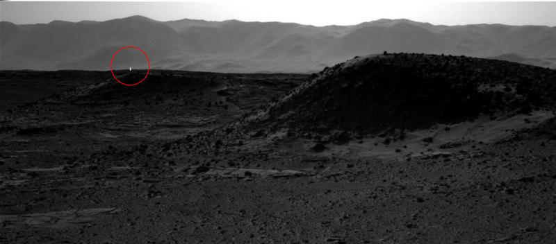 ¿Qué es esta luz brillante captada en Marte por el Curiosity?