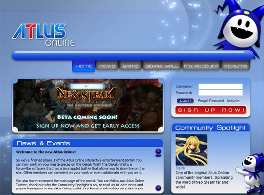 Atlus Online Now Open For Business