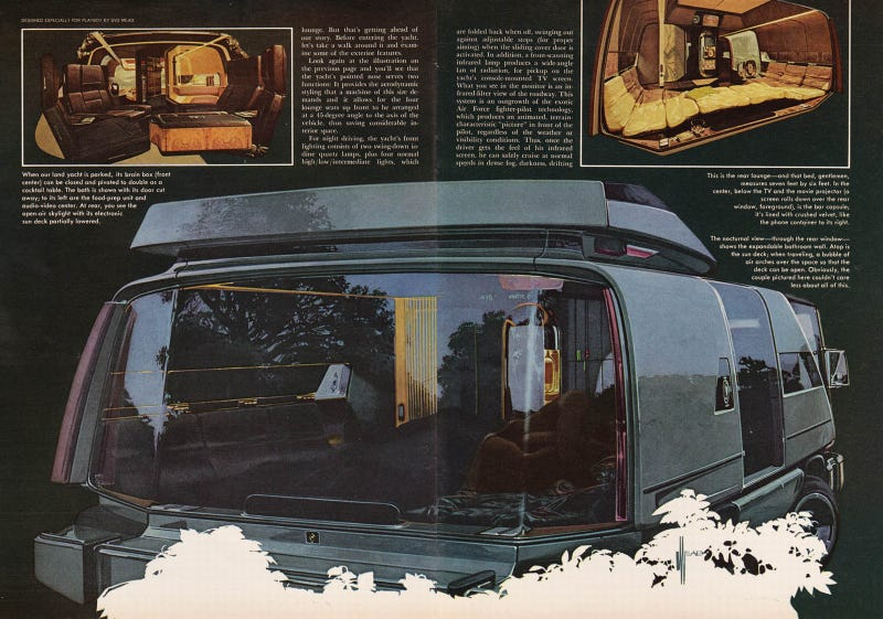 Syd Mead's Futuristic Playboy Land Yacht
