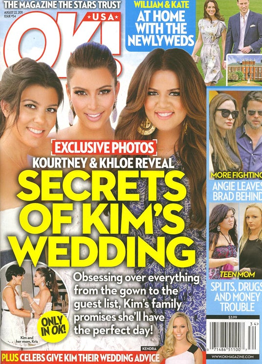 This Week In Tabloids: Jennifer Aniston's Secret Baby Bump & Shotgun Wedding