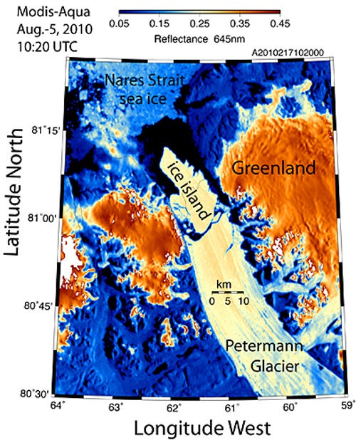 Ice Island Four Times Bigger than Manhattan Breaks from Greenland