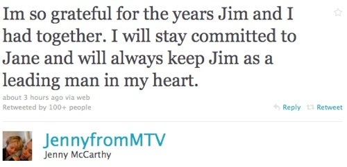 Jenny McCarthy and Jim Carrey End 5-year Relationship Via Twitter