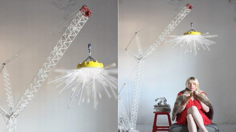 $4000 Crane Lamp Is a 1:50 Scale Model of the Real Thing