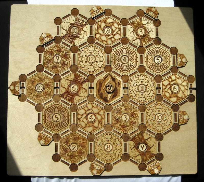 The Most Beautiful Settlers of Catan Board you Will Ever see
