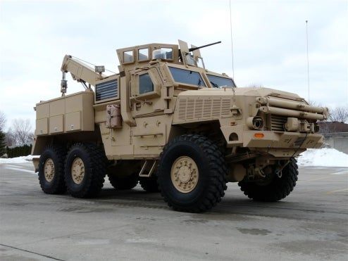 RG33L Mine Resistant Recovery and Maintenance Vehicle