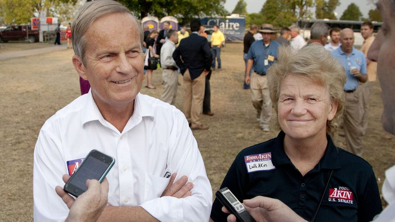 Todd 'Legitimate Rape' Akin Says He Won't Drop Out of Race as Almost Entire GOP Abandons Him