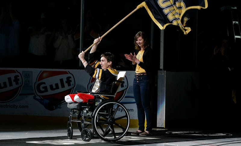 Boston Bruins Honor Marathon Bombing Victim Before Game 2