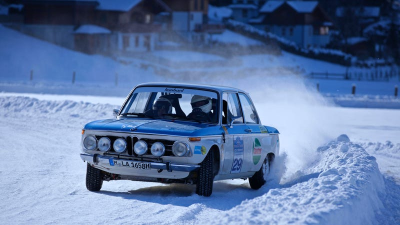 BMW Went Ice Racing With A 2002 TI