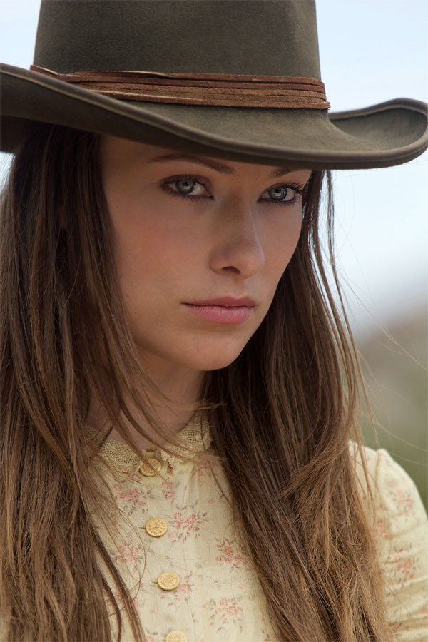 "Olivia Wilde explains how she stole her character's look and backstory from ""The Man With the Black Hat"""