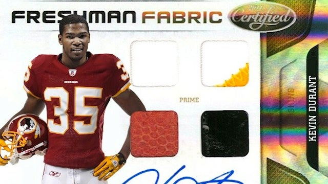 Kevin Durant Is The New Redskins Quarterback...On A Trading Card