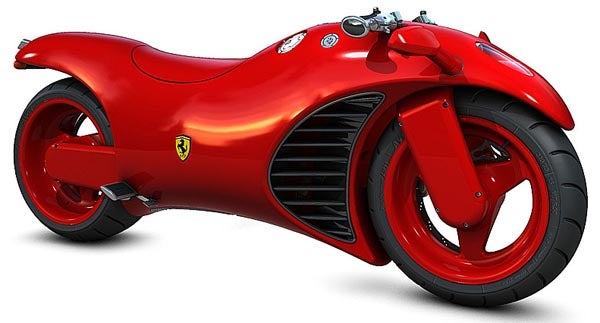 Ferrari V4 Motorcycle Concept: If Tron Were a City in Italy
