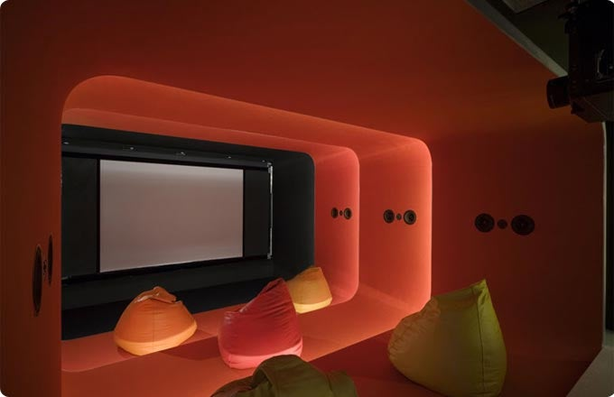 Home Theater Designed to Look Like Radio City, But Smaller