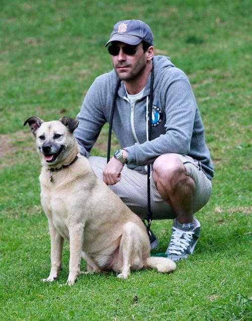 Jon Hamm's Dog Has His Eye On Some Bitch