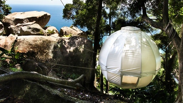 This Floating Globe Tent Is a Cocoon for People