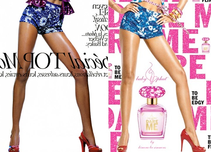 Photoshop Solved: Kimora's Ad Cribbed From Vogue Cover