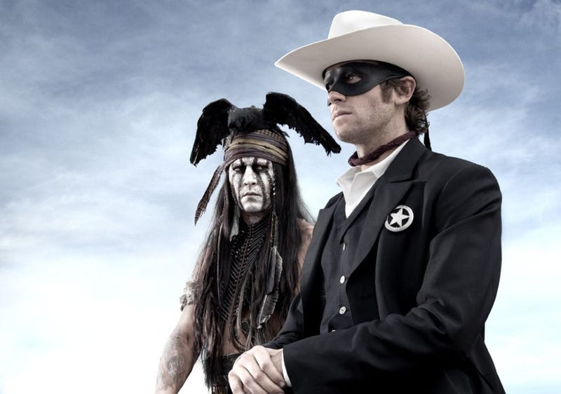 We saw the first footage of Johnny Depp as Tonto in Lone Ranger