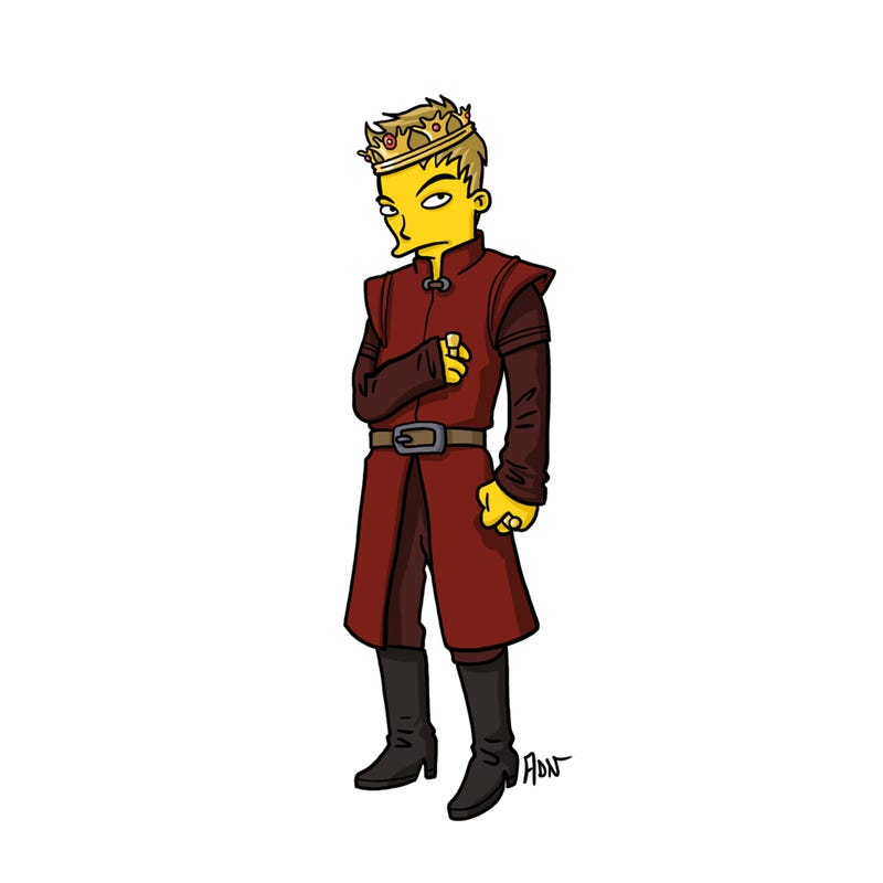 What if The Simpsons was invaded by characters from Game of Thrones?