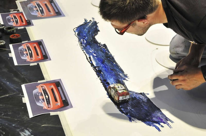 British Artist Paints Using RC Cars As His Brushes