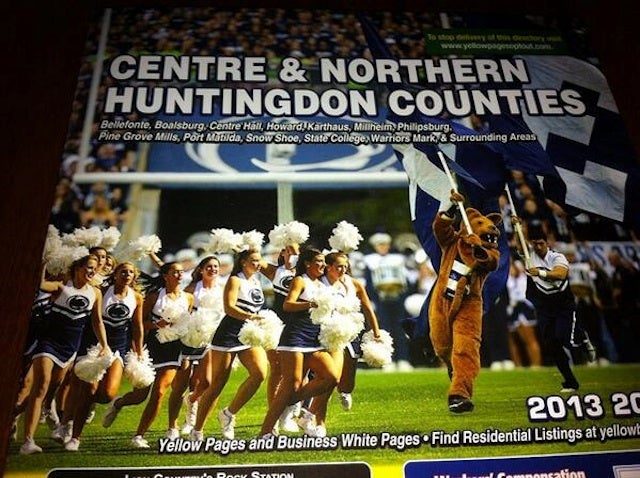 This Phone Book Cover Shows An Awfully Excited Penn State Mascot
