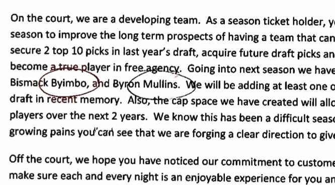 Bobcats Celebrate Their Four Young Core Players By Misspelling Two Of Their Names In Official Letter