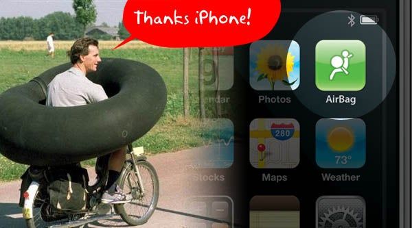 iPhone Keeps Cyclists' Leg Skin From Becoming Part of the Street