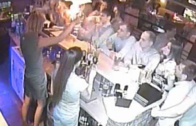 Bartender Sets Customer On Fire