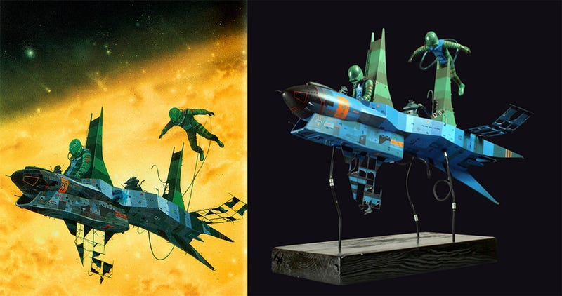 Artist turns a classic space opera cover into a beautiful scale model