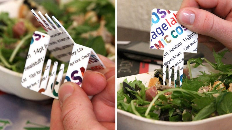Credit Card Fork For BYOC (Bring Your Own Cutlery) Parties