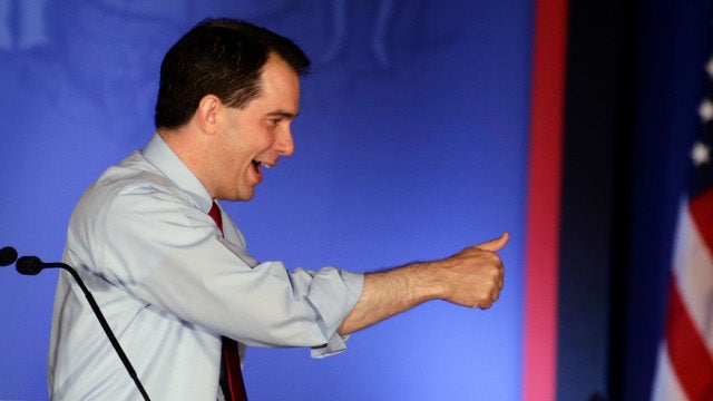Romney Proclaims 'The Message of Wisconsin,' But Scott Walker Disagrees